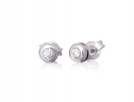 White gold earrings with diamond, from North Star collection