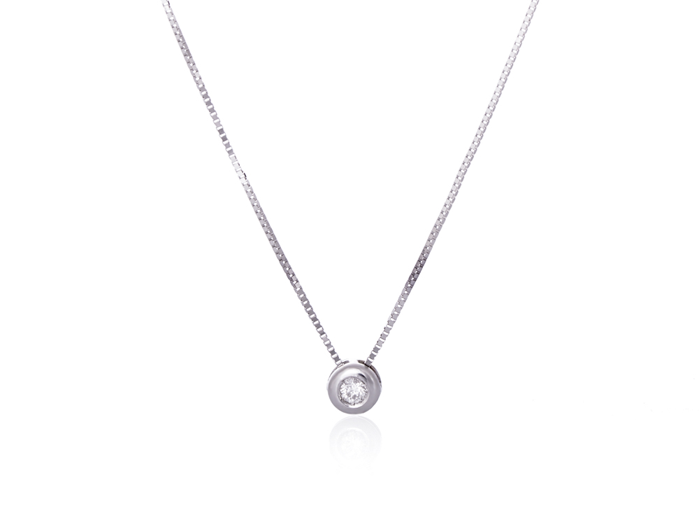 White gold necklace with diamond from North Star collection