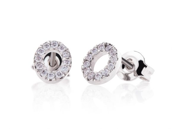 Earrings - Diamond circles