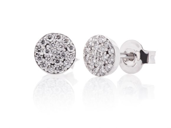 Earrings - Diamond rounded earrings