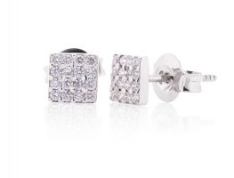 Earrings - diamond cubes