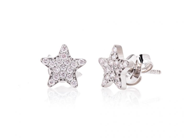 Earrings - diamond stars