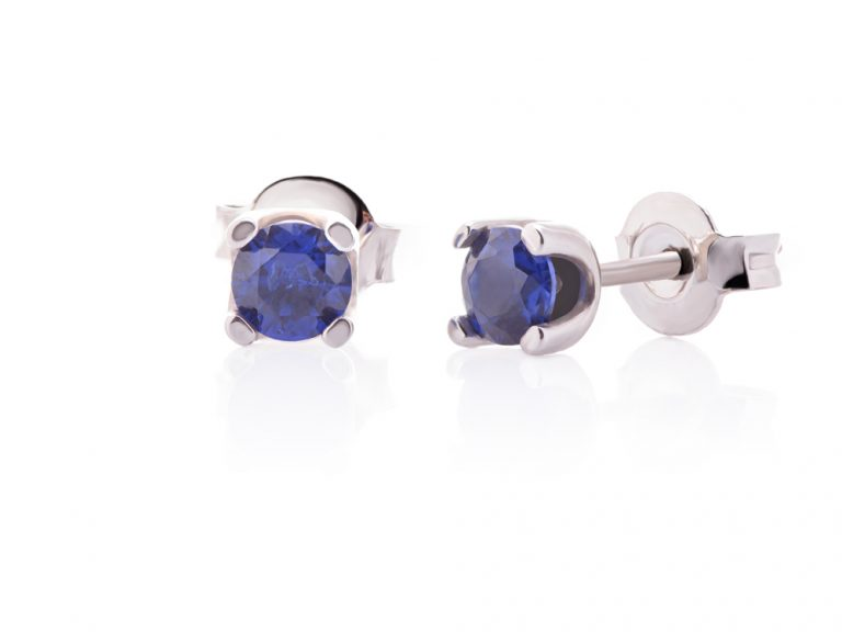 Classic earrings with colorful zircons - Small