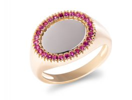 Statement ring with colorful zircons