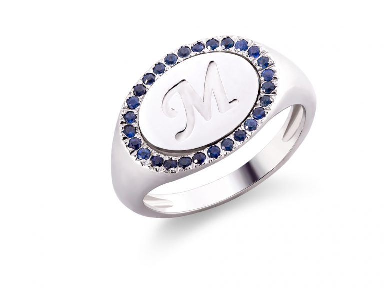 Statement ring with blue sapphires